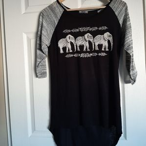 Warehouse Tops - 3/$30-Bling Elephant Top